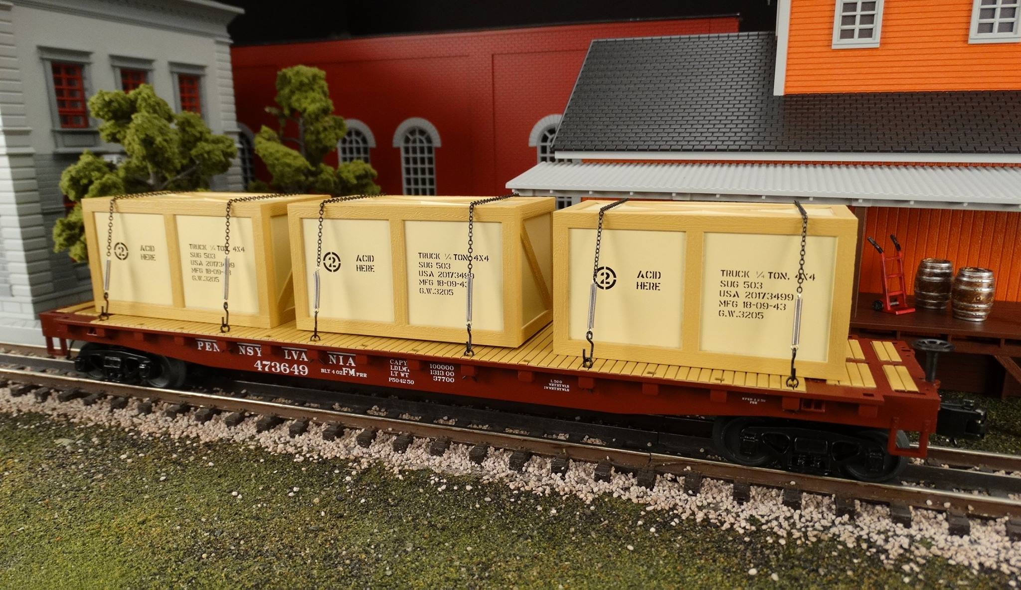 Mth Premier Flatcars With Jeep Crates What S New